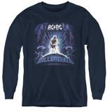 AC/DC Ballbreaker Youth Long Sleeve T-Shirt Navy