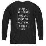 AC/DC Struck Youth Long Sleeve T-Shirt Black