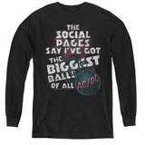 AC/DC Big Balls Youth Long Sleeve T-Shirt Black