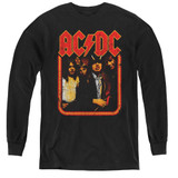 AC/DC Group Distressed Youth Long Sleeve T-Shirt Black