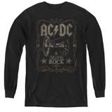 AC/DC Rock Label Youth Long Sleeve T-Shirt Black