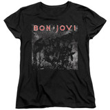Bon Jovi Slippery Cover Women's T-Shirt Black
