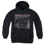 Bon Jovi Slippery Cover Youth Pullover Hoodie Sweatshirt Black