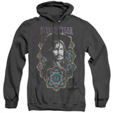 Steven Tyler Aerosmith Mandala Adult Heather Pullover Hoodie Sweatshirt Black