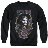 Steven Tyler Aerosmith Mandala Adult Crewneck Sweatshirt Black
