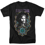 Steven Tyler Aerosmith Mandala Adult 18/1 T-Shirt Black