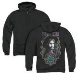 Steven Tyler Aerosmith Mandala (Back Print) Adult Zip Hoodie Sweatshirt Black