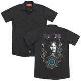 Steven Tyler Aerosmith Mandala (Back Print) Adult Work Shirt Black