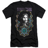 Steven Tyler Aerosmith Mandala Adult 30/1 T-Shirt Black