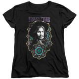 Steven Tyler Aerosmith Mandala Women's T-Shirt Black