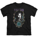 Steven Tyler Aerosmith Mandala Youth T-Shirt Black