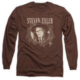 Steven Tyler Aerosmith Flourish Circle Adult Long Sleeve T-Shirt Coffee