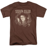 Steven Tyler Aerosmith Flourish Circle Adult 18/1 T-Shirt Coffee