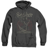 Seether Reaper Adult Heather Pullover Hoodie Sweatshirt Black