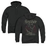 Seether Reaper (Back Print) Adult Zip Hoodie Sweatshirt Black