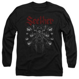 Seether Arachnoid Adult Long Sleeve T-Shirt Black