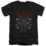 Seether Arachnoid Adult V-Neck T-Shirt Black