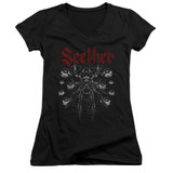 Seether Arachnoid Junior Women's V-Neck T-Shirt Black