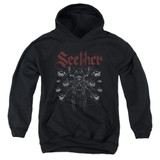 Seether Arachnoid Youth Pullover Hoodie Sweatshirt Black