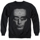 Steve Vai Vai Head Adult Crewneck Sweatshirt Black