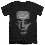 Steve Vai Vai Head Adult V-Neck T-Shirt Black