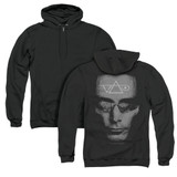 Steve Vai Vai Head (Back Print) Adult Zip Hoodie Sweatshirt Black