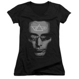 Steve Vai Vai Head Junior Women's V-Neck T-Shirt Black