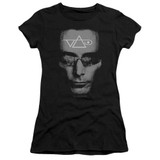 Steve Vai Vai Head Premium Junior Women's Sheer T-Shirt Black