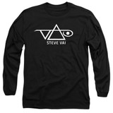 Steve Vai Logo Adult Long Sleeve T-Shirt Black