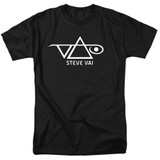 Steve Vai Logo Adult 18/1 T-Shirt Black