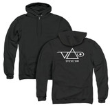 Steve Vai Logo (Back Print) Adult Zip Hoodie Sweatshirt Black