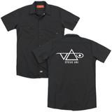 Steve Vai Logo (Back Print) Adult Work Shirt Black