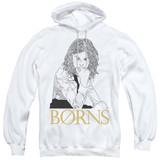 Borns Outline Adult Pullover Hoodie Sweatshirt White