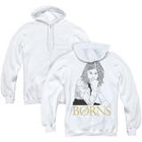 Borns Outline (Back Print) Adult Zip Hoodie Sweatshirt White