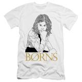 Borns Outline Premium Adult 30/1 T-Shirt White
