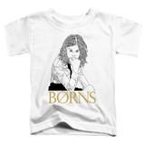 Borns Outline Toddler T-Shirt White