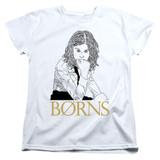 Borns Outline Women's T-Shirt White
