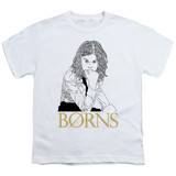 Borns Outline Youth T-Shirt White