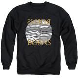Borns Thumbprint Adult Crewneck Sweatshirt Black