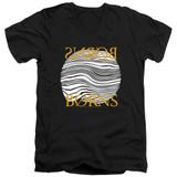 Borns Thumbprint Adult V-Neck T-Shirt Black