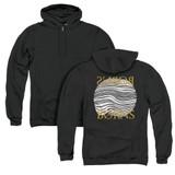 Borns Thumbprint (Back Print) Adult Zip Hoodie Sweatshirt Black