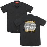 Borns Thumbprint (Back Print) Adult Work Shirt Black