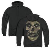 Misfits Camo Skull (Back Print) Adult Zip Hoodie Sweatshirt Black