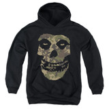 Misfits Camo Skull Youth Pullover Hoodie Sweatshirt Black