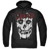 Misfits Splatter Adult Pullover Hoodie Sweatshirt Black