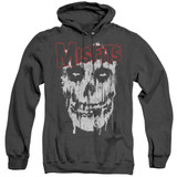 Misfits Splatter Adult Heather Pullover Hoodie Sweatshirt Black