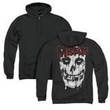 Misfits Splatter (Back Print) Adult Zip Hoodie Sweatshirt Black