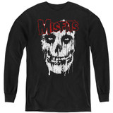 Misfits Splatter Youth Long Sleeve T-Shirt Black