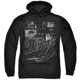 The Darkness Pedal Board Adult Pullover Hoodie Sweatshirt Black