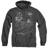 The Darkness Pedal Board Adult Heather Pullover Hoodie Sweatshirt Black